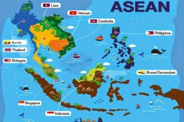 Map of Southeast Asia with Names