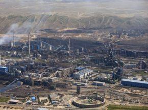 Aerial view industry factory of Urumqi