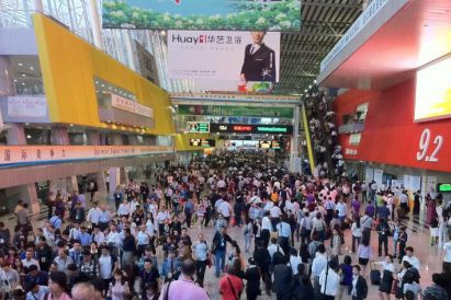 crowded hall in the canton fair