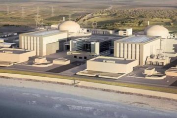 view of Hinkley Point from air
