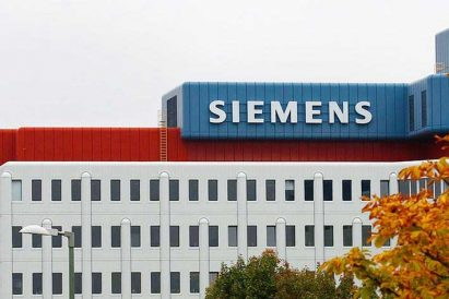 picture of siemens factory during autumn