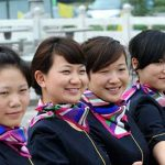 China's economy such as women working for the airline