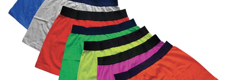Custom men's underwear samples.