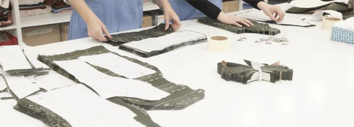 Cut sheets on how to make custom pants.