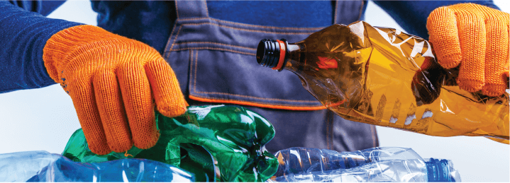 Plastic bottles is one of the most popular recycled plastic products.