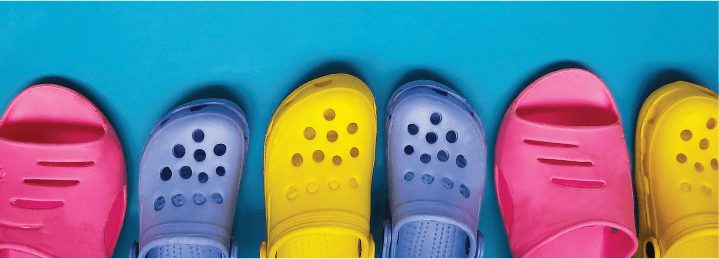 Plastic slippers are another kind of popular recycled plastic products.