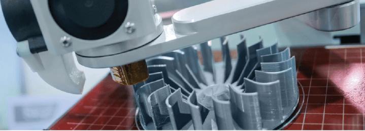 3D printing plastic manufacturing process.